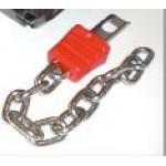 Ersatzschlüssel mit Kette für Münzschloss