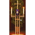 Urnenkandelaber inkl. Urnentrage und Messingkreuz
