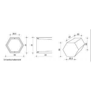 """Urnenfachelement """"Hexagon"""""""