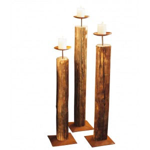 Holz-Kerzenständer
