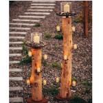 Kerzenhalter natur inkl. Gläser